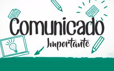 Comunicado – Reposição de Aula