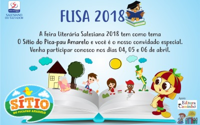 Convite FLISA 2018 – Feira Literária Salesiana
