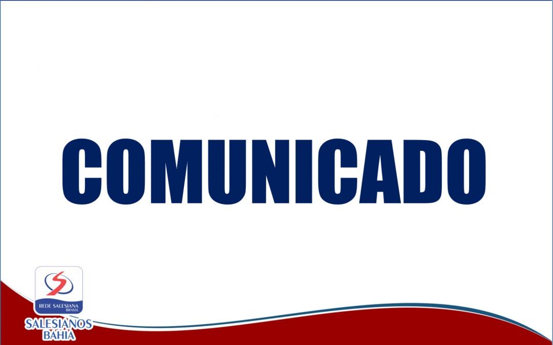 Comunicado – Cancelamento das Avaliações – Ensino Médio